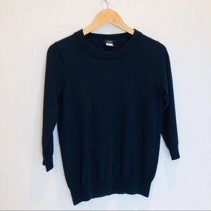 ➖J Crew➖ navy merino wool sweater